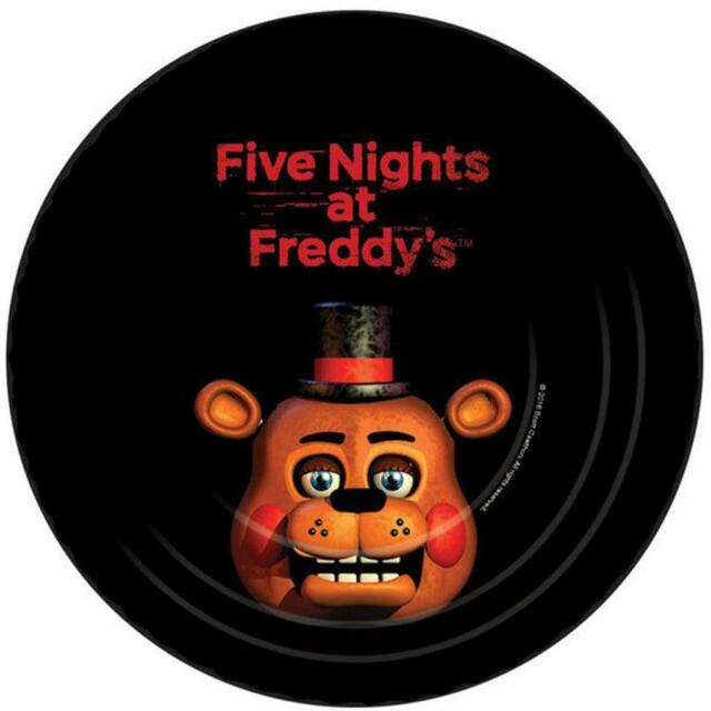 Five Nights at Freddyu0027s 7  Round Paper Plates 8ct  sc 1 st  eBay & Five Nights at Freddyu0027s 7
