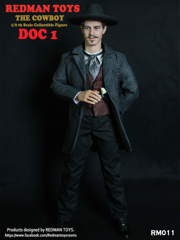 RossoMAN TOYS RM011 1/6 Scale Doc Holliday Western Cowboy Action Figure Model