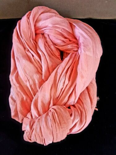 Eileen Fisher Silk Peony Pink Wrap Scarf NWT Sold Out