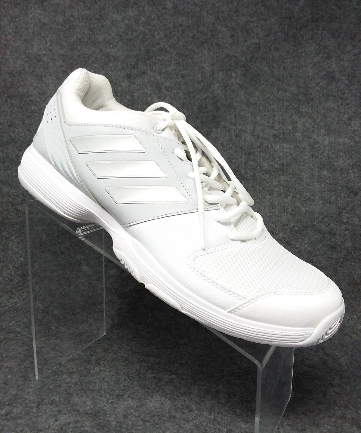Adidas NEW Men's White Silver Tennis shoes Sneakers Size 11.5 Walking Training