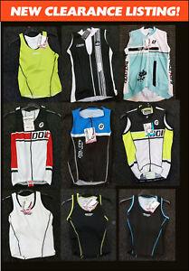 CLEARANCE-NEW-Doltcini-Sleeveless-Ladies-Womens-Cycling-Jersey-Singlets-UK-STOCK