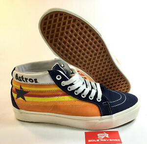 54907bee6d0fa7 Image is loading NEW-VANS-SK8-MID-Blue-Nights-Houston-Astros-