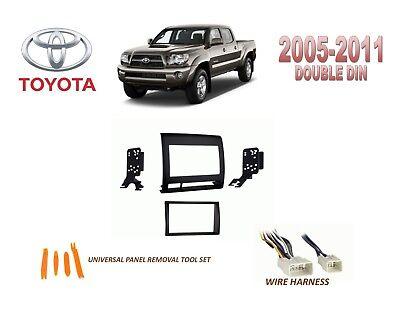 2011 toyota tacoma wiring harness black  dash install kit for car stereo 2005 2011 toyota tacoma  car stereo 2005 2011 toyota tacoma