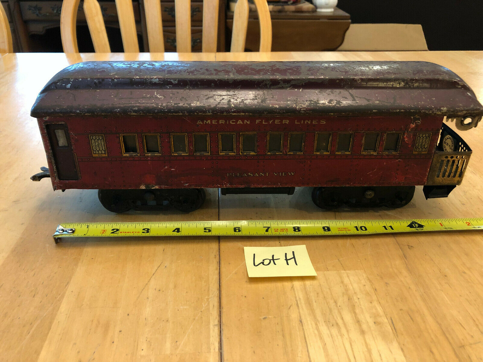 American Flyer Train Standard Pleasant View Observation Passenger Car Red Lot H