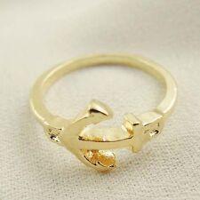 Ancora color oro design Sciarpa Anello portafazzolettone ** LIEVI SECONDI **
