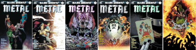 Dark Nights METAL #1 2 3 4 5 6 Complete Foil 1st Print Set! Snyder! Capullo!