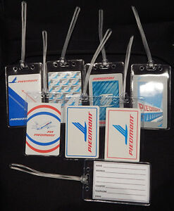 Luggage-tag-Piedmont-Airlines-w-playing-card-choose-from-multiple-designs
