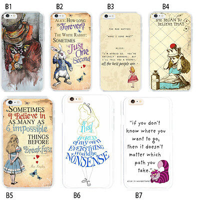 Alice in Wonderland Mad Hatter Quotes Case Cover For iPhone 6S 7 Plus 5S S6 S7