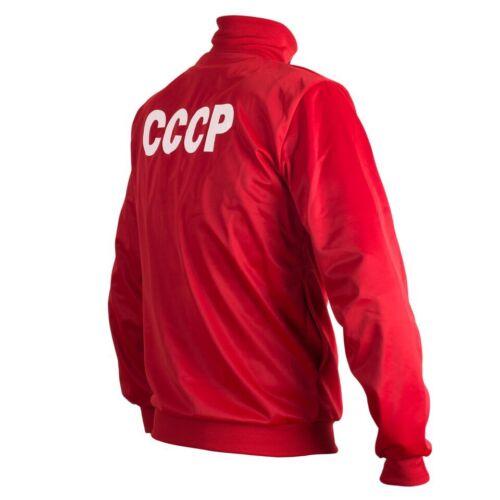 Soviet Union CCCP USSR 1970/'s Retro Football Jacket Tracksuit Zipped Jumper