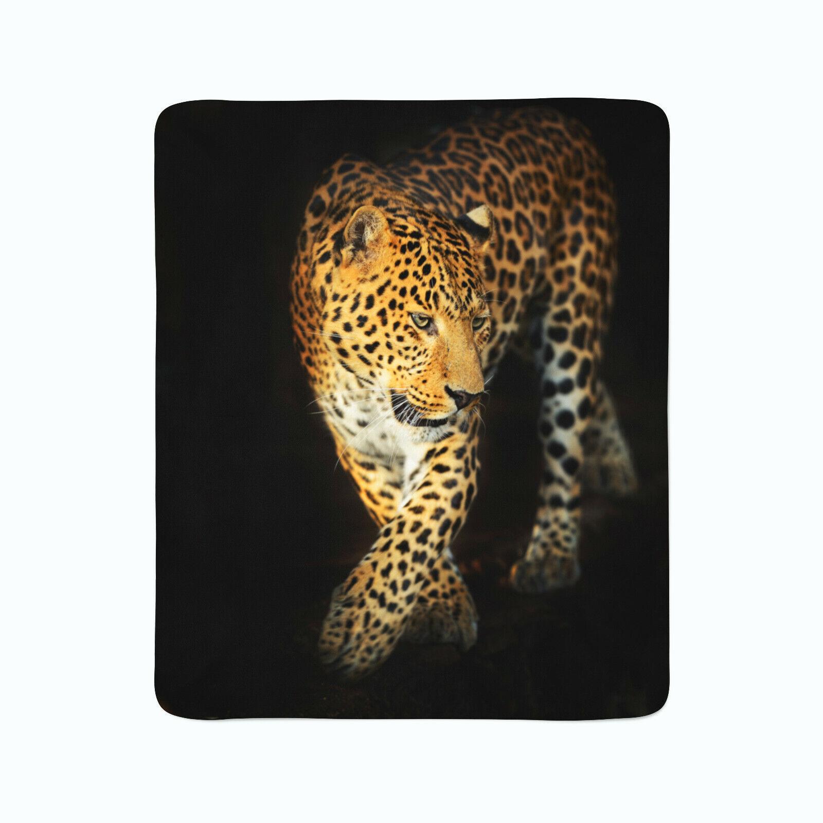 Fleece Decke Foto Decke Kuscheldecke mit Motiv Natur Tiere Beautiful Jaguar