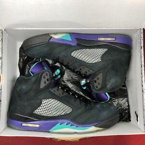 hot sale online c1931 1bdd7 Image is loading Nike-Air-Jordan-Retro-V-5-Black-Grape-