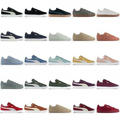 PUMA SUEDE CLASSIC TRAINERS - BLACK, BLUE, BURGUNDY, GREY, NAVY, GREEN &  MORE | eBay