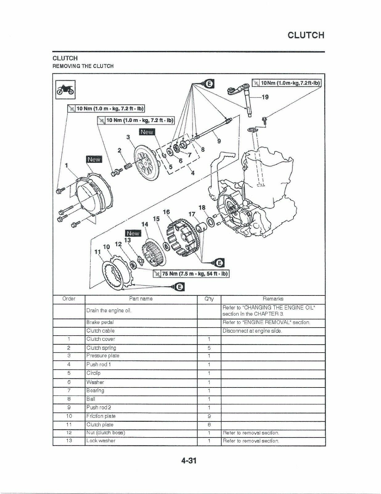 Yamaha Yz250 Yz250fd 2013 Owners Service Manual Ebay Wiring Diagram