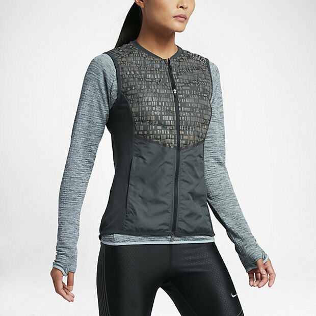 NIKE AEROLOFT WOMEN'S RUNNING VEST 799883 364 DARK GREEN SIZES XS S  M