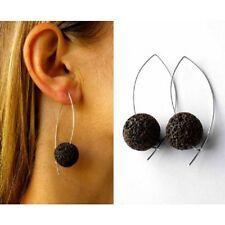 Ohrringe, Lava-Stein, Silber 925, NEU  Silver earrings -  Designerstück -
