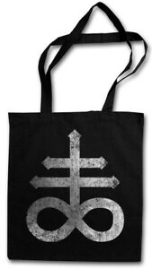 LEVIATHAN CROSS STOFFTASCHE satanism 666 Sign Double Church of Satan Devil