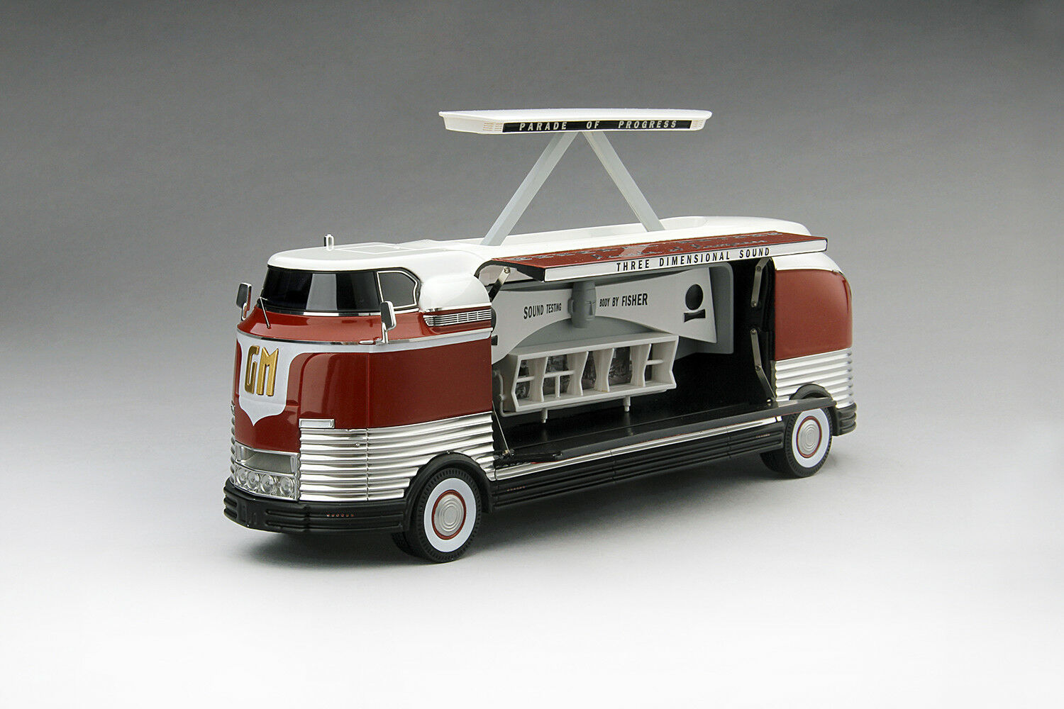 1954 GM Futurliner tridimensionnelle Sound GM Parade of Progress 1 43 TSM