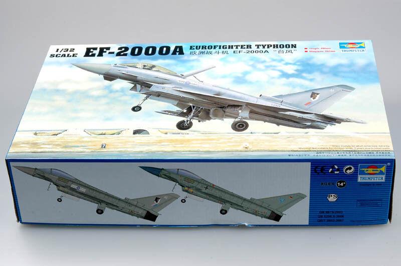 Avión Eurofighter Tifón EF-2000 Trumpeter 02278 ataque avión modelo 1 32