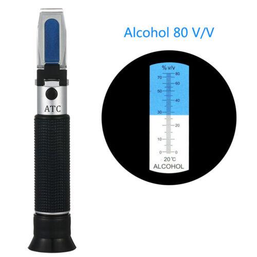 Alcool Réfractomètre Alcotest 0 ~ 80/% V//V de poche outil spiritueux Testeur gvus