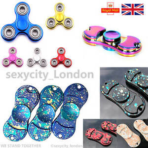 Fidget-Finger-Spinner-Hand-Focus-Aluminum-Spin-EDC-Bearing-Stress-Toys-UK-SELLER