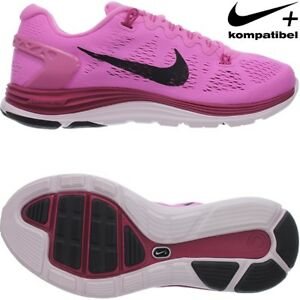 4e4d999d6e53 Details about Nike WMNS LUNARGLIDE+ 5 women running shoes athletic sneakers  black pink NEW