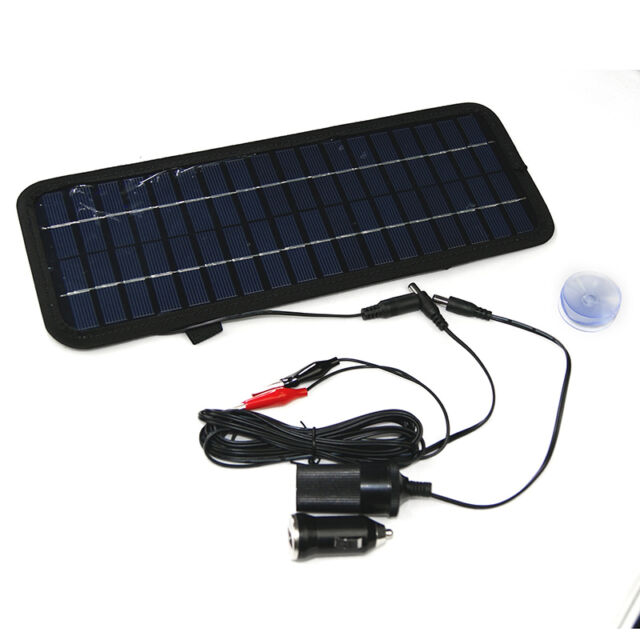 Solar Powered Car Boat Motorcycle 12V Battery Maintainer Trickle Charger  HOT MT