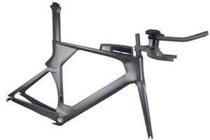 49-52-54-56cm-Carbon-Time-Trial-TT-Bike-Frame-UD-Matt-BSA-BB30-Bicycle-Frameset