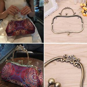 Bag Parts & Accessories Metal Sewing Holes Handbag Clutch Coin Purse Bag Frame Kiss Clasp Arch Bag Accessorries Retro Bag Lock For Purse Wallet #25
