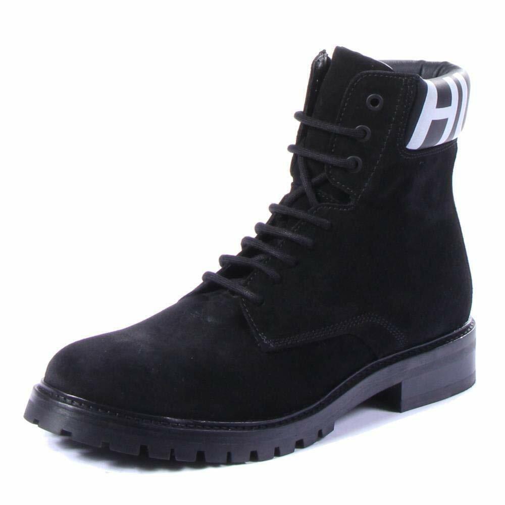 Hugo Boss Hommes Explorer _ Halb _ wxsd Bottes Chaussures Noir, Taille 12