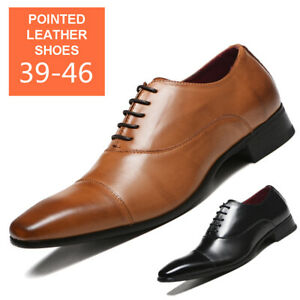 Mens-Business-Dress-Formal-Oxfords-Leather-Shoes-Flat-Lace-Up-Casual-Loafers-New