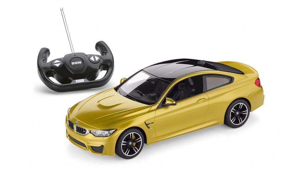 Original BMW RC M4 ferngesteuertes Auto 1 14 Miniatur Gelb 80442447987