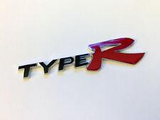 NEW Black Type R Honda JDM Racing 3D Emblem Decal Trunk Metal Badge Sticker Red