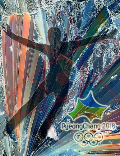 2018  Olympic Poster//PyeongChang South Korea Figure Skater//Men/'s Skating
