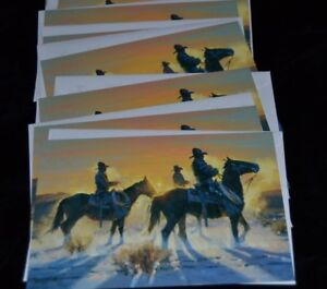HOLIDAY-COWBOYS-Greeting-Cards-LEANIN-TREE-Decorative-Envelope-Lot-10-D-Mieduch