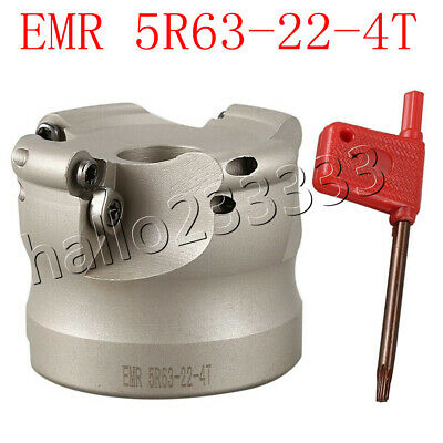 New 1P EMR5R63-22-4T 4Flute CNC milling cutter 4P RPMW1003MO VP15TF blade