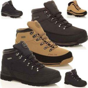Da Uomo Groundwork Pelle Acciaio Puntale Caviglia Lavoro Scarpe Stivali Di Sicurezza Scarpe Da Ginnastica Sz