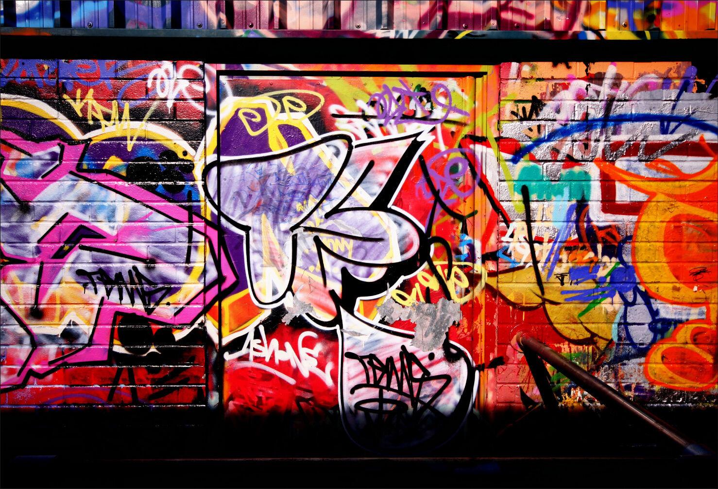 Adesivi Murale Adesivo Decocrazione  Graffiti Tag - Ref 1496 (16 Dimensioni)