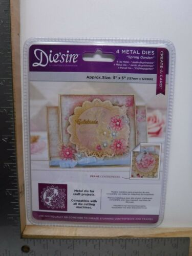 DIE/'SIRE SPRING GARDEN CREATE-A-CARD METAL DIE SET NEW A15749