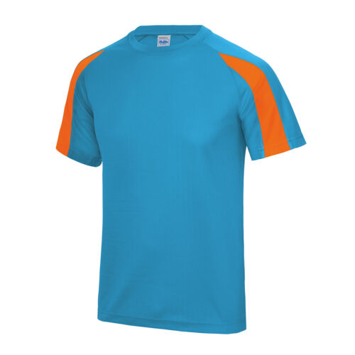 AWDis Just Cool Contrast Cool T-Shirt Men Team Sports//football polyester tee