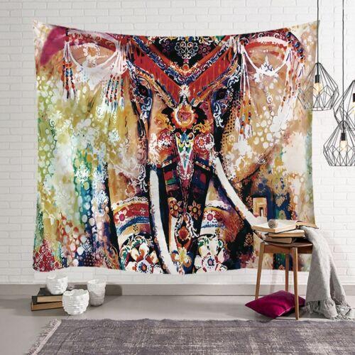 India Life Elephant Mandala Flower Tapestry Bedspread Hippie Wall Hanging Throw