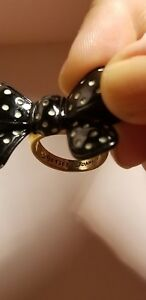 Ring Betsey Bow Johnson Polka Dot uOkXPZi