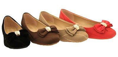 Nueva camiseta para mujer bailarina ballet escuela de arco de oro Dolly Bombas Zapatos Planos Para Damas Niñas