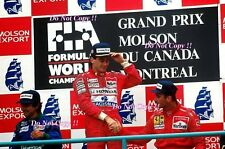 Ayrton Senna McLaren MP4/5B Winner Canadian Grand Prix 1990 Photograph