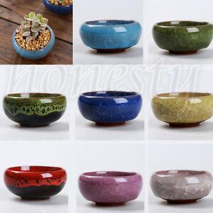 Mini Ice Crack Ceramic Succulent Planter Cactus Pots Plants Box Garden Flowerpot