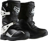Fox Racing Boy's Youth Pee Wee Comp 5k Boot Black sil Motocross Mx Atv Off Road Shoes