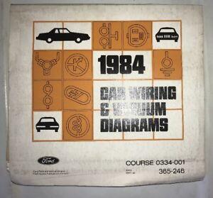 1984 FORD CAR VACUUM & WIRING DIAGRAMS MANUAL MUSTANG ...