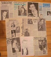 Vanilla Ice, Lot of TEN Full Page Vintage Clippings
