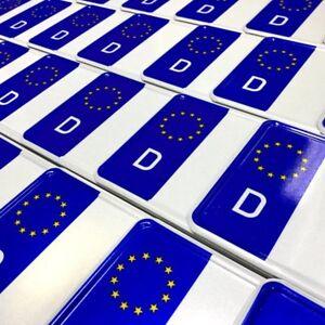 2 Stück EU Kfz Kennzeichen