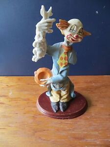 Clown-Figurine-on-wooden-base-New-Price