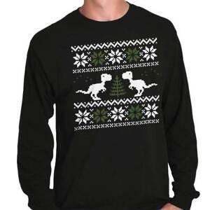 fd752fb05 Image is loading Ugly-Christmas-Dinosaur-Shirt-Sweater-Funny-Cute-Kids-